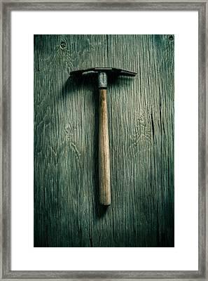 Tools On Wood 16 Framed Print by Yo Pedro