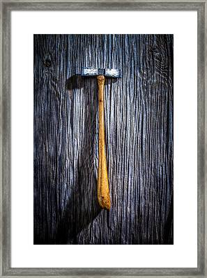 Tools On Wood 19 Framed Print by Yo Pedro
