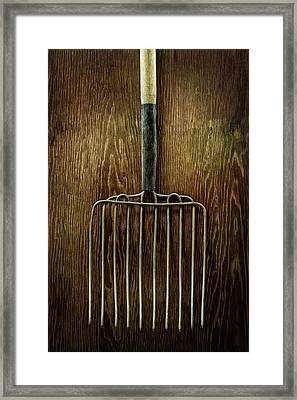 Tools On Wood 21 Framed Print