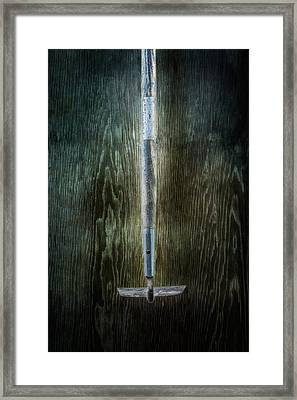 Tools On Wood 22 Framed Print by Yo Pedro