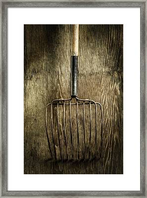 Tools On Wood 25 Framed Print