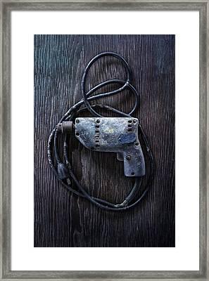 Tools On Wood 28 Framed Print