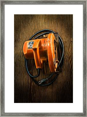 Tools On Wood 31 Framed Print