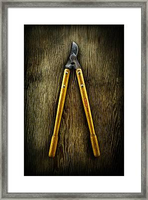 Tools On Wood 34 Framed Print