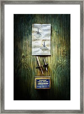 Tools On Wood 37 Framed Print