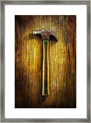 Tools On Wood 40 Framed Print by YoPedro