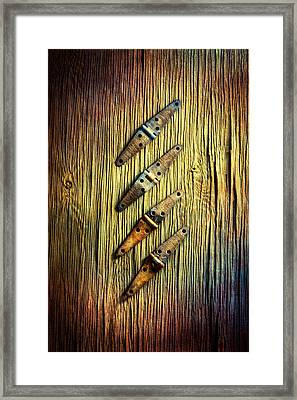 Tools On Wood 45 Framed Print