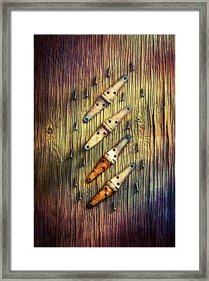 Tools On Wood 48 Framed Print
