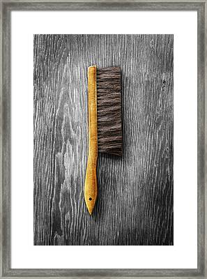Tools On Wood 52 On Bw Framed Print by YoPedro