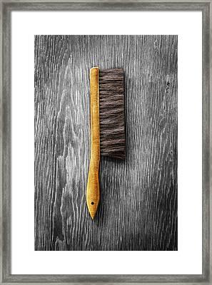 Tools On Wood 52 On Bw Framed Print