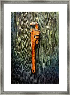Tools On Wood 60 Framed Print