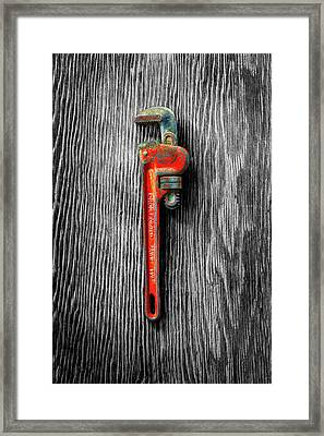 Tools On Wood 62 On Bw Framed Print