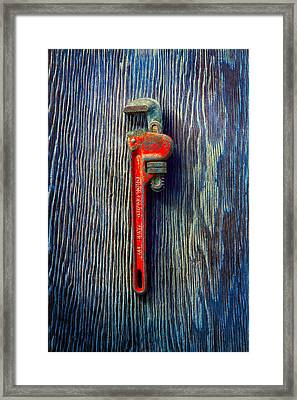 Tools On Wood 62 Framed Print