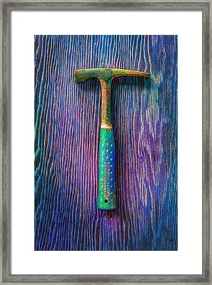 Tools On Wood 63 Framed Print by YoPedro
