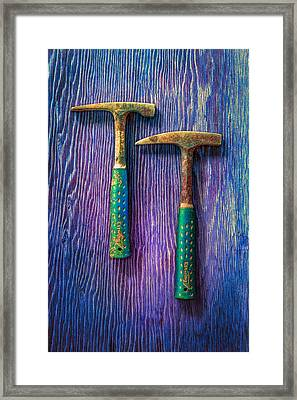 Tools On Wood 65 Framed Print by YoPedro