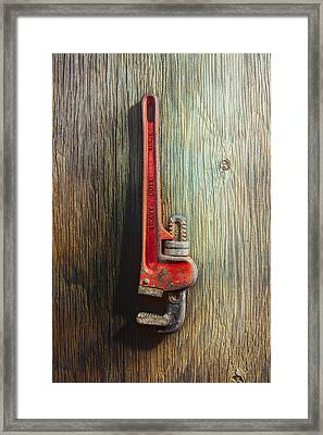 Tools On Wood 70 Framed Print by YoPedro