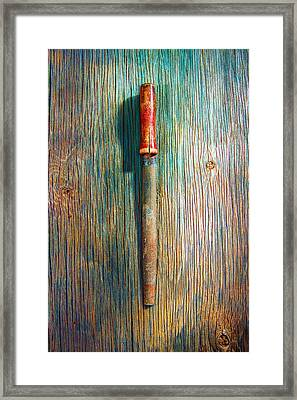 Tools On Wood 71 Framed Print by YoPedro