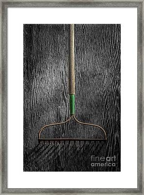 Tools On Wood 8 On Bw Framed Print by YoPedro
