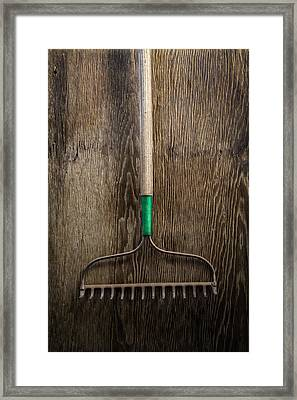 Tools On Wood 9 Framed Print by Yo Pedro