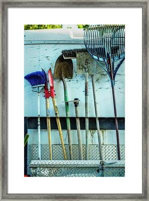 Tools To Get The Work Done Framed Print