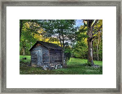Toolshed Framed Print by Pete Hellmann