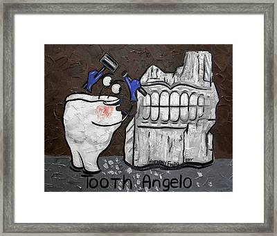 Tooth Angelo Framed Print by Anthony Falbo