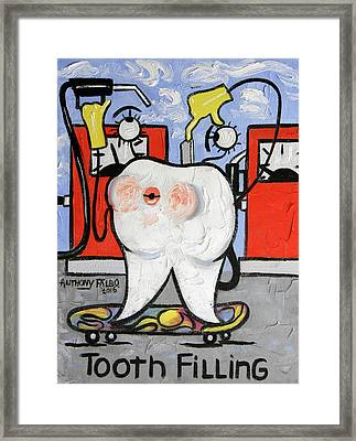 Tooth Filling Framed Print by Anthony Falbo