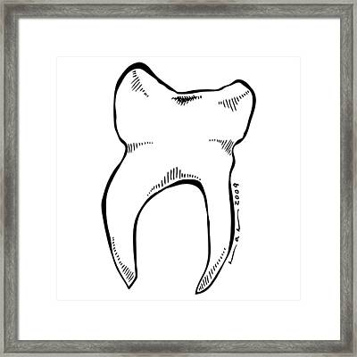 Tooth Framed Print by Karl Addison