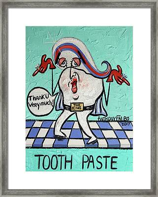 Tooth Paste Framed Print by Anthony Falbo