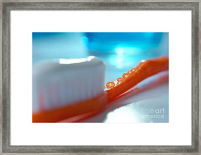 Toothbrush Framed Print