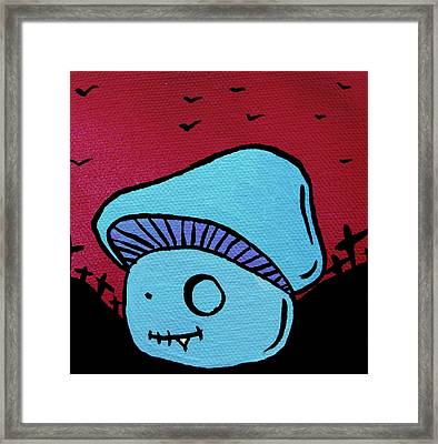 Toothed Zombie Mushroom Framed Print