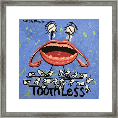 Toothless Framed Print by Anthony Falbo