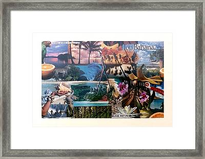 Top Banana Number Six Framed Print by Gabe Art Inc