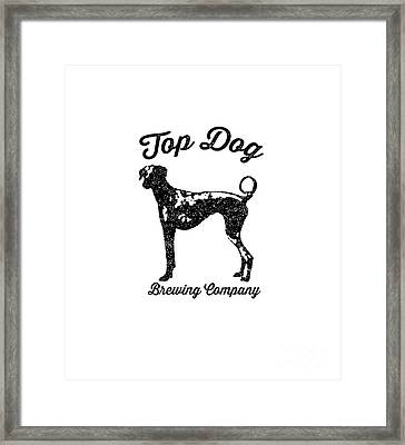 Top Dog Brewing Company Tee Framed Print by Edward Fielding