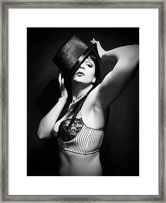 Top Hat And Lingerie 4 Framed Print