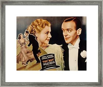 Top Hat, Lobbycard, Ginger Rogers, Fred Framed Print by Everett