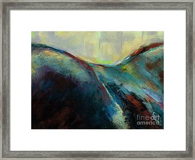 Top Line Framed Print by Frances Marino