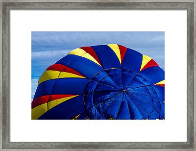 Top Of A Hot Air Balloon Framed Print by Teri Virbickis