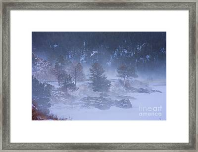 Top Of Boulder Canyon Winter Snow Framed Print by James BO  Insogna