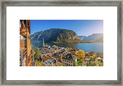 Top Of Hallstatt Framed Print by JR Photography