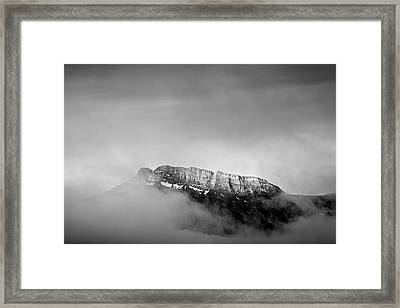 Top Of Mount Rundle II Framed Print