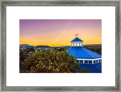 Top Of The Carousel Framed Print