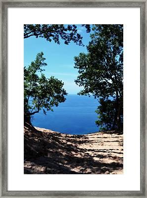 Top Of The Dune At Sleeping Bear Ll Framed Print
