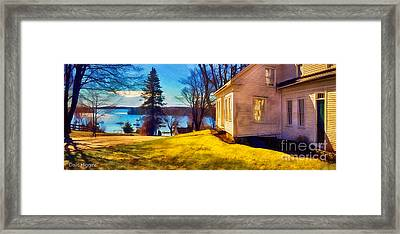 Top Of The Hill, Friendship, Maine Framed Print by Dave Higgins