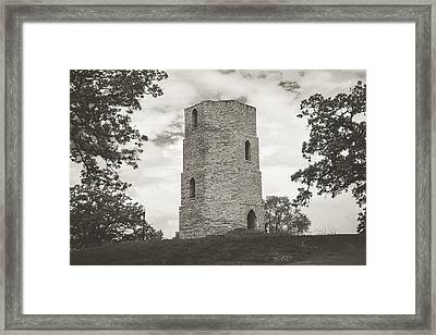 Framed Print featuring the photograph Top Of The Hill by Viviana  Nadowski