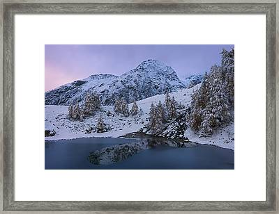 Top Of The Lake Framed Print