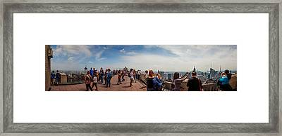 Top Of The Rock Experience Framed Print by Az Jackson