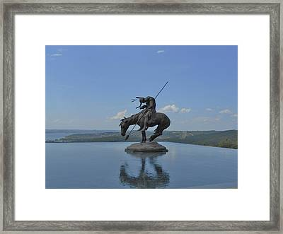 Top Of The Rock Infinity Pool Framed Print by Julie Grace
