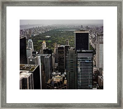 Top Of The Rock Nyc Framed Print by Martin Newman