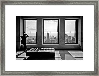 Top Of The Rock Framed Print by Thomas Splietker